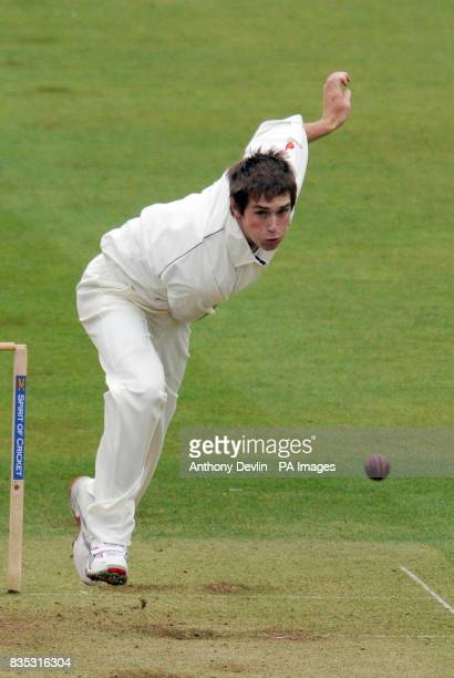 MCC's Chris Woakes bowls during the Champion County match at Lords London