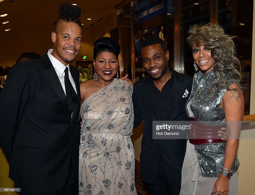 ICON's Chuckie Amos, Sherita Cherry, Merrell Hollis and Shirley Gordon attend the VIP Pre Party at the Bronner Bros. ICON Awards Presented By Clairol - Show on February 18, 2013 in Atlanta, Georgia. United States.