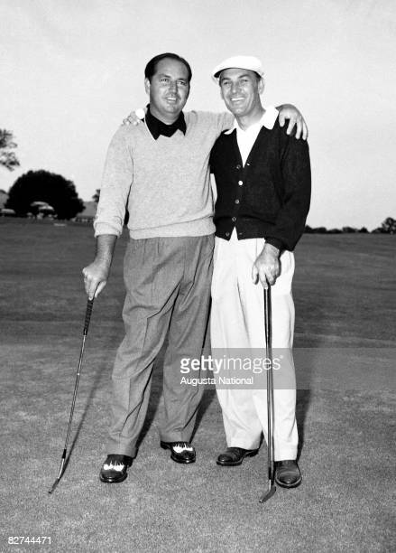 AUGUSTA GA 1960's Claude Harmon and Ben Hogan during a 1960's Masters Tournament at Augusta National Golf Club in Augusta Georgia