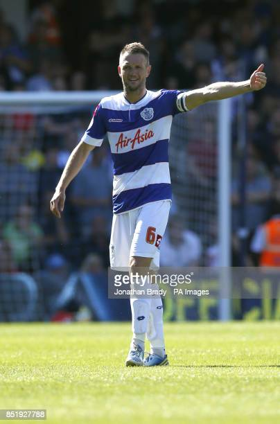 QPR's Clint Hill during the Sky Bet Championship match at Loftus Road London