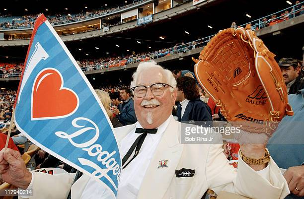 KFC's 'Colonel' made a surprise visit to Southern California to catch some game action between the Los Angeles Dodgers and the Cincinnati Reds...
