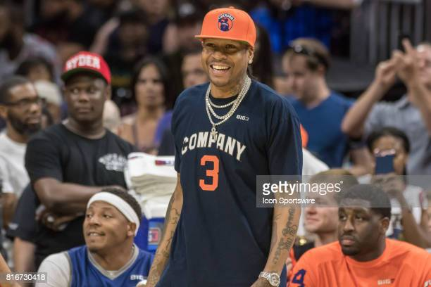 3's Company's head coach Allen Iverson during a BIG3 Basketball league game on July 16 2017 at Wells Fargo Center in Philadelphia PA