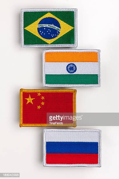 BRIC's countries flag patch.