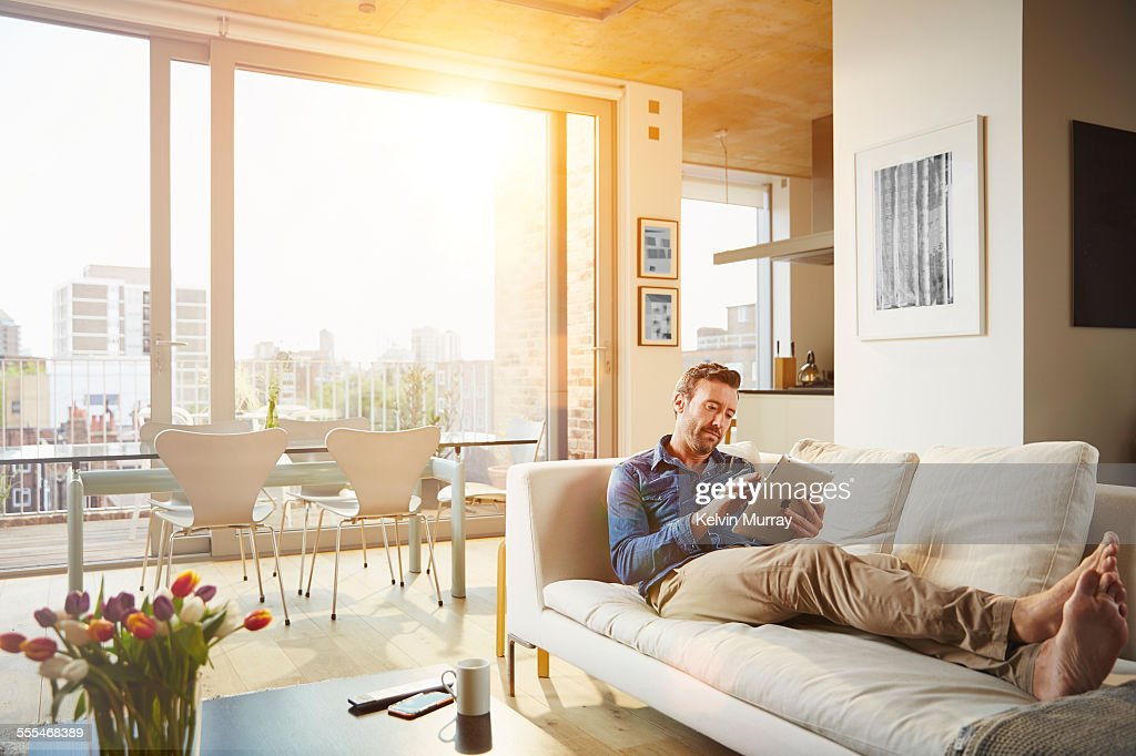 40's Couple In Apartment : Stock Photo