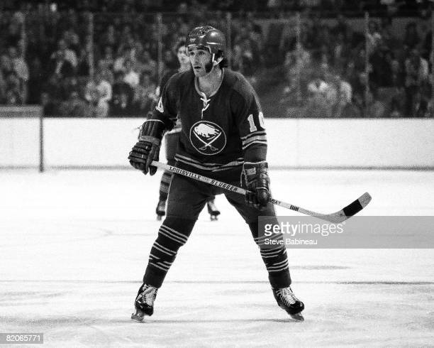 BOSTON MA 1970's Craig Ramsay of the Buffalo Sabres skates in game against the Boston Bruins at the Boston Garden