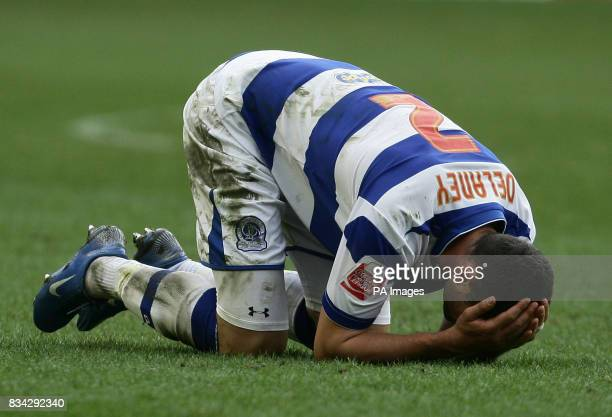 QPR's Damien Delaney reacts during the CocaCola Championship match at Molineux Wolverhampton