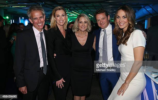 TVNZ's Dan Corbett Wendy Petrie Karen Olsen Rawdon Christie and Renee Wright during the TVNZ New Season Showcase 2016 at the ANZ Viaduct Events...
