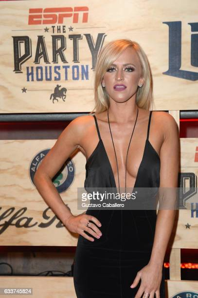 WWE's Danielle Moinet attends the 13th Annual ESPN The Party on February 3 2017 in Houston Texas