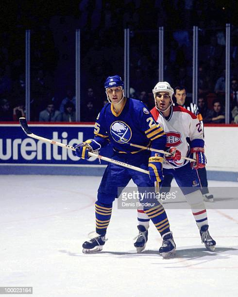 MONTREAL 1980's Dave Andreychuk of the Buffalo Sabres skates against the Montreal Canadiens in the late 1980's at the Montreal Forum in Montreal...
