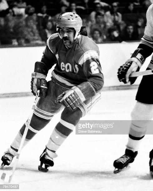 BOSTON MA 1970's Dennis Maruk of the California Golden Seals skates against the Boston Bruins at Boston Garden