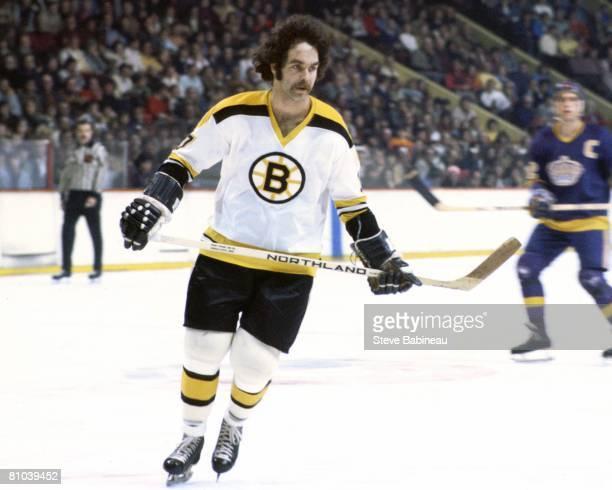 BOSTON MA 1970's Derek Sanderson of the Boston Bruins skates in game against the Los Angeles Kings at the Boston Garden