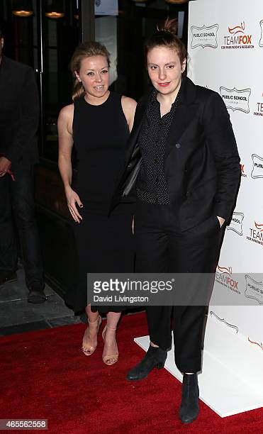 HBO's Director of Original Series Kathleen McCaffrey and actress Lena Dunham attend the Raising the Bar to End Parkinson's event at Public School 818...