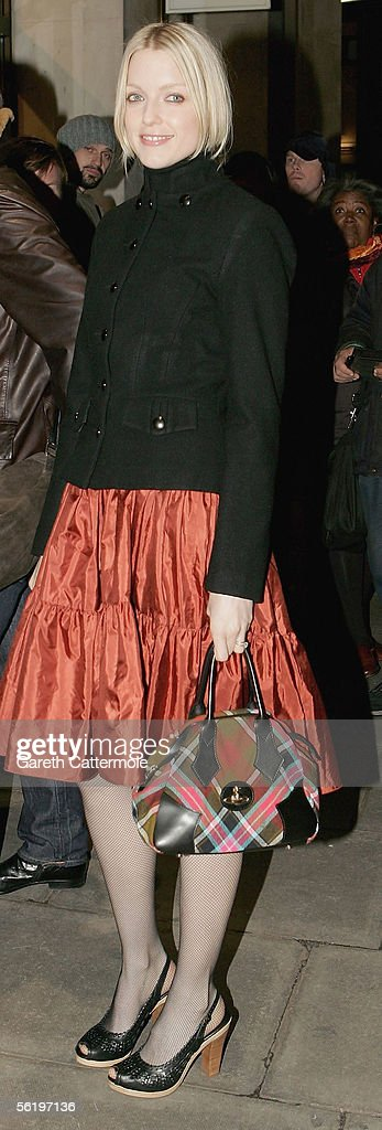 XFM's dj Lauren Laverne arrives at the UK Premiere of 'Stoned' at the Apollo West End Cinema on November 17, 2005 in London, England. The British film chronicles the life and death of Rolling Stones co-founder Brian Jones, found drowned just weeks after being released from the band.