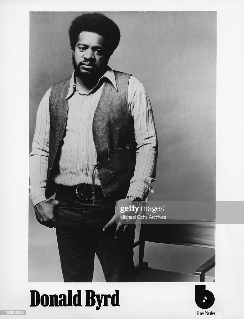 EARLY 1970's: <a gi-track='captionPersonalityLinkClicked' href=/galleries/search?phrase=Donald+Byrd&family=editorial&specificpeople=1551105 ng-click='$event.stopPropagation()'>Donald Byrd</a> poses for a Blue Note records publicity shot in the early 1970's.