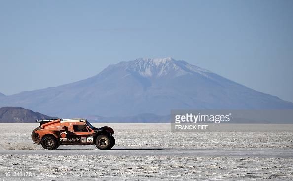 SMG's driver Ronan Chabot of France and codriver Gilles Pillot compete during the Stage 8 of the Dakar 2015 between Uyuni in Bolivia and Iquique in...