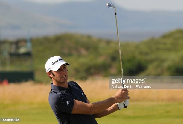 USA's Dustin Johnson during practice day three at Turnberry Golf Club