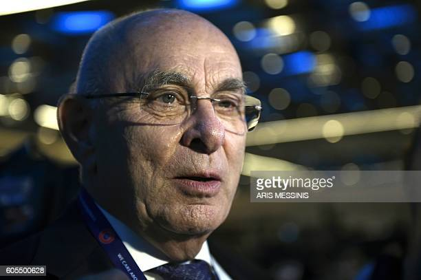 UEFA's Dutch presidential candidate Michael van Praag attends the opening of the 12th Extraordinary UEFA congress in Lagonissi some 40 kilometers...