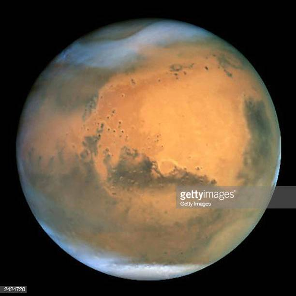 NASA's Earthorbiting Hubble Space Telescope took this picture June 26 2003 of Mars Mars was approximately 43 million miles from Earth the closest...