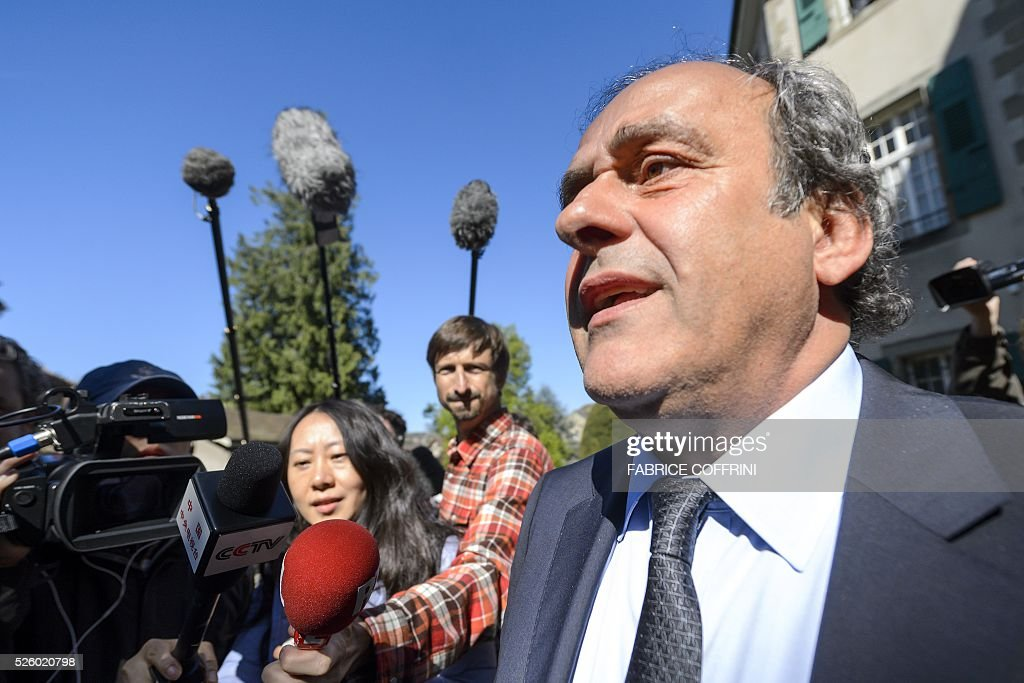 UEFA's fallen chief Michel Platini leaves the Court of Arbitration for Sport (CAS) after his appeal hearing against his six-year FIFA ban for ethics violations, on April 29, 2016 in Lausanne. CAS will rule on Michel Platini's appeal against his six-year FIFA ban by May 9, the head of the Lausanne-based tribunal Mathieu Reeb said on April 29. / AFP / FABRICE