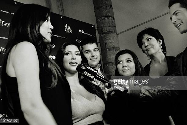 TV's favorite reality family 'The Kardashian's' are interviewed by 'E' Entertainment at the Commerce Casino on November 3 2009 in City of Commerce...