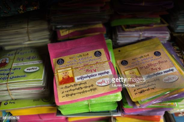 CD's featuring Wirathu's sermons are stack in the Masoeyein Monastery before being distributed to followers The sermons trypically spread hate speech...