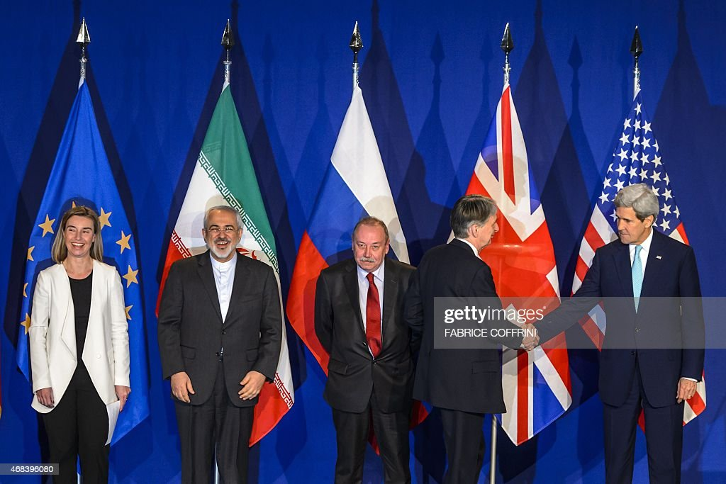 EU's foreign policy chief Federica Mogherini Iranian Foreign Minister Mohammad Javad Zarif Deputy director of the Department for Nonproliferation and...