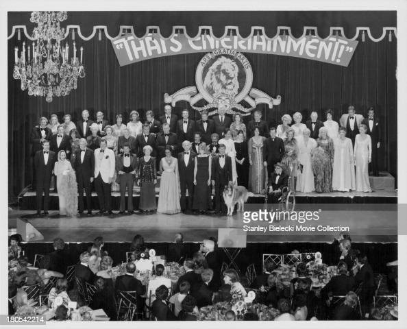 MGM's Gala Anniversary Reunion Ball following the premiere of 'That's Entertainment' and including starts such as Ava Gardener Gene Kelly Elizabeth...