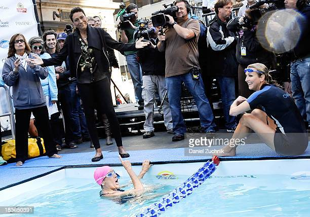 Good Morning America Usa Swimming : Lara spencer journalist stock photos and pictures getty