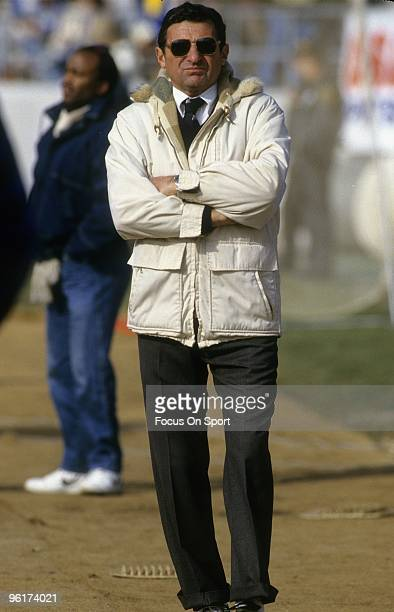 PARK PA CIRCA 1970's Head Coach Joe Paterno of the Penn State Nittany Lions walks the sidelines before a NCAA football game mid circa 1970's at...