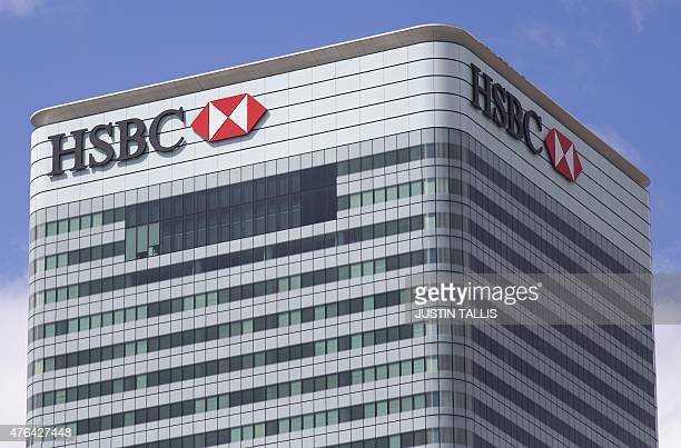 HSBC's headquarters is pictured in east London on June 9 2015 Scandalhit bank HSBC said today it would cut its global headcount by up to 50000 as...