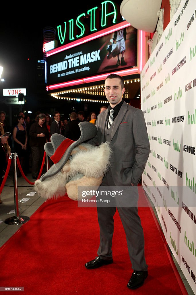 UNLV's Hey Reb mascot Jon 'Jersey' Goldman at Hulu Presents The LA Premiere Of 'Behind the Mask' at the Vista Theatre on October 24, 2013 in Los Angeles, California.