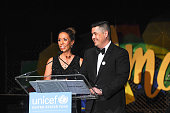 UNICEF's Hope Gala CoChair Kim KW Rucker and UNICEF's Hope Gala CoChair Mark Mitsukawa attends the UNICEF Hope Gala on April 9 2016 in Chicago...