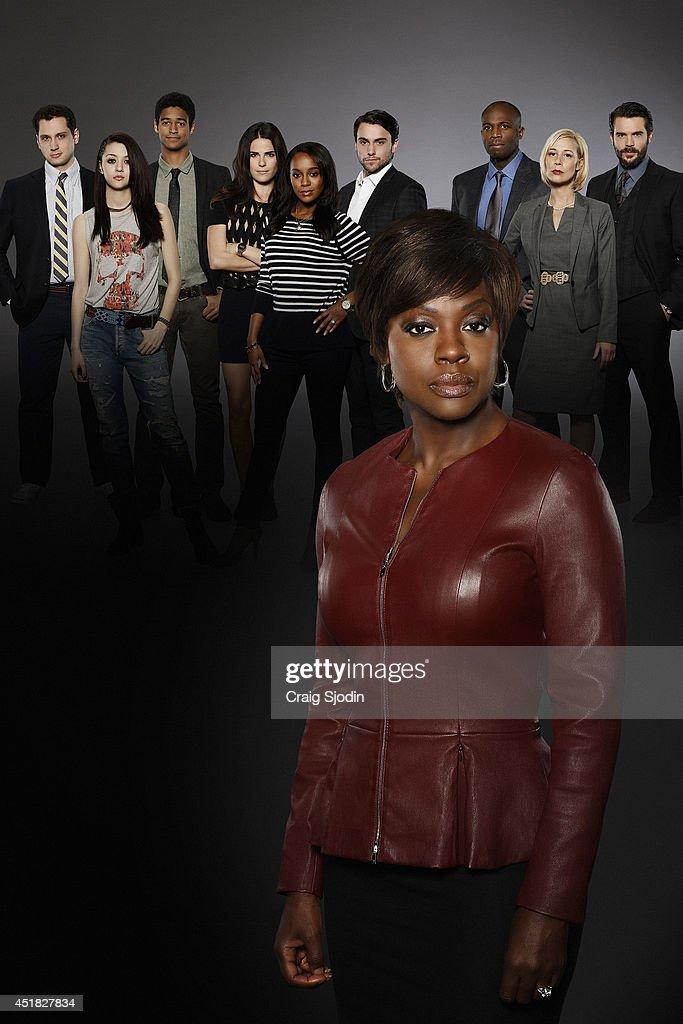 MURDER ABC's 'How to Get Away with Murder' stars Viola Davis as Professor Annalise Keating Billy Brown as Nate Alfred Enoch as Wes Jack Falahee as...