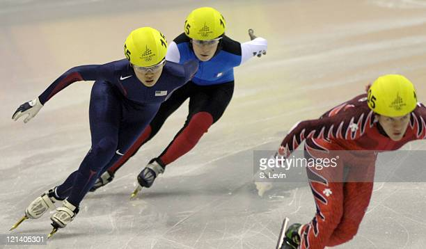 USA's HyoJung Kim in the Womens 500 M Short Track event at the Palavela venue in Torino Italy on February 12 2006