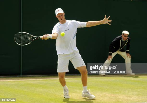 USA's James Blake during a doubles match with teammate Austria's Jurgen Melzer against Great Britain's Jamie Murray and Australia's John Peers at day...