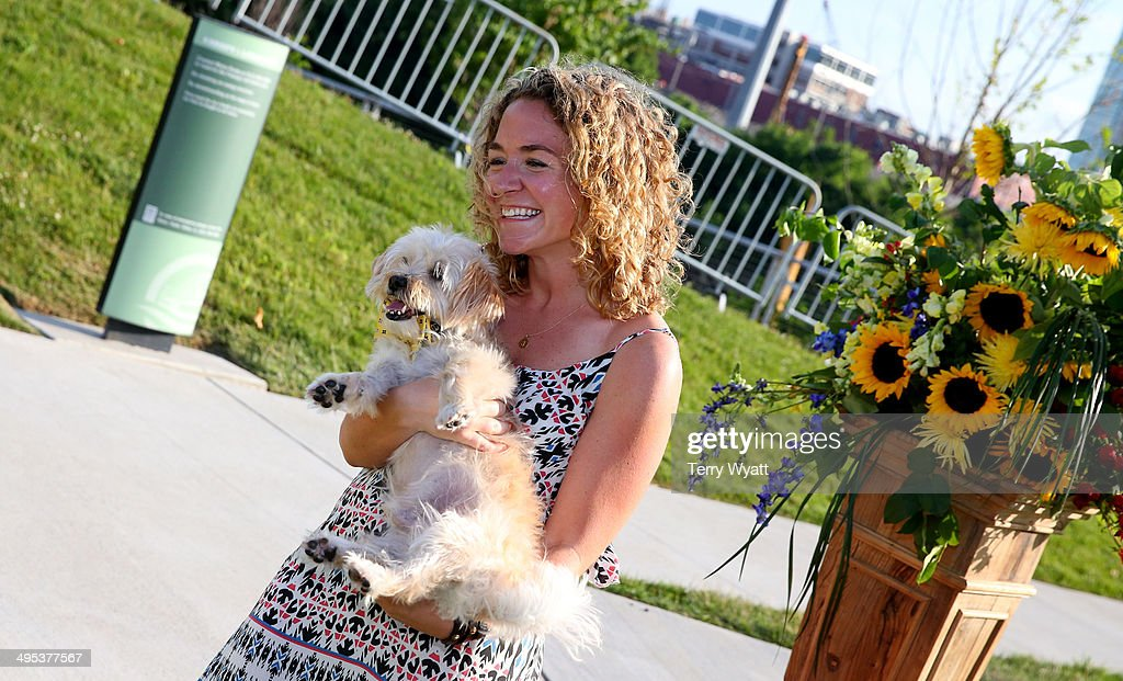 CMT's Jamie Moran the CMT One Country & Dentastix Smile! Party with her pet on June 2, 2014 in Nashville, Tennessee.