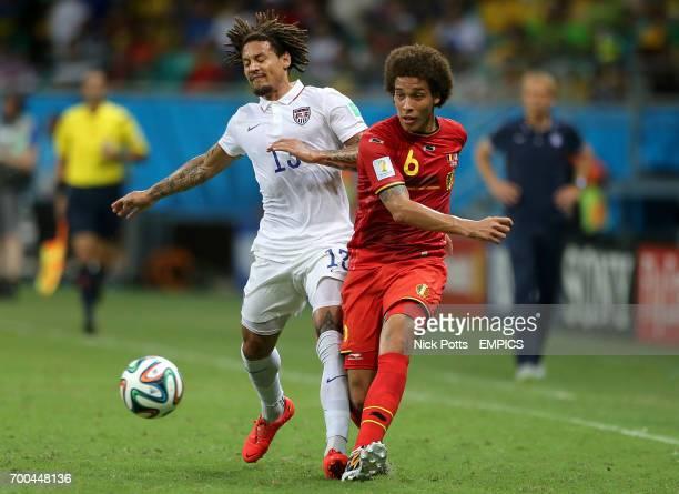 USA's Jermaine Jones and Belgium's Axel Witsel in action