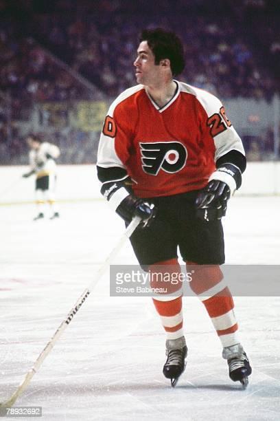 BOSTON MA 1970's Jim Watson of the Philadelphia Flyers plays against the Boston Bruins
