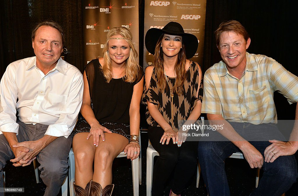BMI's Jody Williams, Co-writer Kacey Musgraves and BMI's Clay Bradley Celebrate Miranda Lambert's No.1 Song 'Mama's Broken Heart' with co writers Kacey Musgraves, Brandy Clark and Shane McAnally performed by Miranda Lambert at Cabana on September 11, 2013 in Nashville, Tennessee.