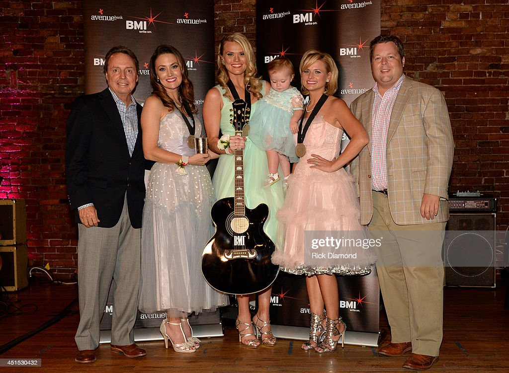BMI's Jody Williams, co-writers Natalie Hemby and Nicolle Galyon, <a gi-track='captionPersonalityLinkClicked' href=/galleries/search?phrase=Miranda+Lambert&family=editorial&specificpeople=571972 ng-click='$event.stopPropagation()'>Miranda Lambert</a>, and BMI's Bradley Collins attend the the 'Automatic' No. 1 party on June 30, 2014 in Nashville, Tennessee.