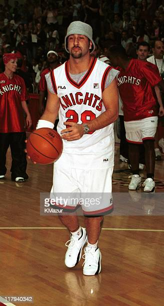 NSYNC's Joey Fatone during *NSYNC's Challenge for the Children II charity basketball game at St John's University in New York City New York United...