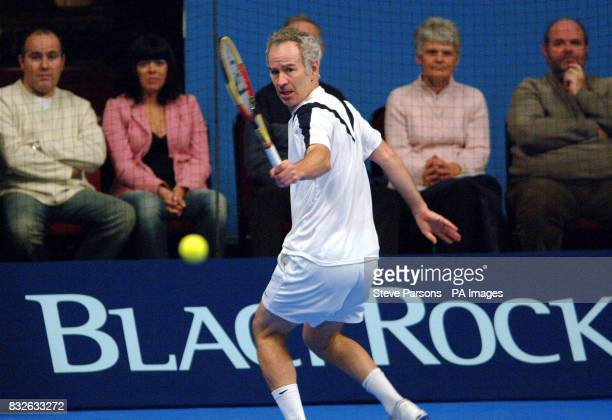 USA's John McEnroe in action against Marcelo Rios during the Blackrock Masters at the Royal Albert Hall London
