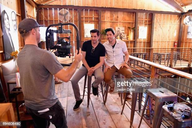 HGTV's Jonathan Scott and Drew Scott attend the HGTV Lodge during CMA Music Fest on June 10 2017 in Nashville Tennessee