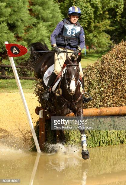 USA's Julian Stiller on board Chapel Amble as they pass through the Trout Hatchery during the Cross Country Event during The Land Rover Burghley...