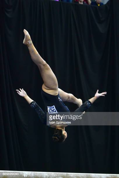 UCLA's Kyla Ross performs on the balance beam during the finals of the NCAA Women's Gymnastics National Championship on April 15 at Chaifetz Arena in...