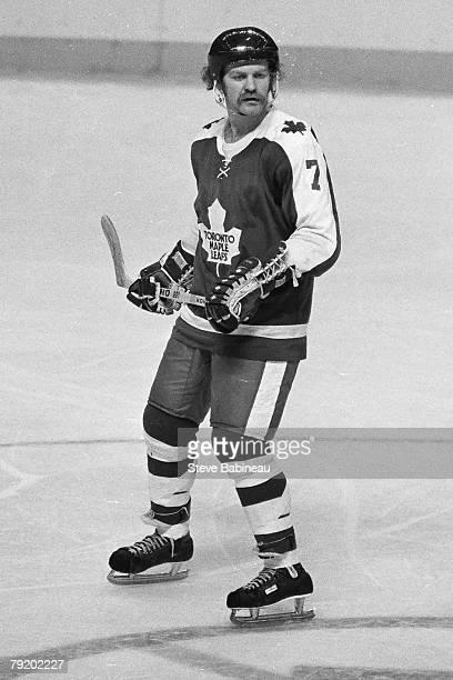 BOSTON MA 1970's Lanny McDonald of the Toronto Maple Leafs skates against the Boston Bruins at Boston Garden