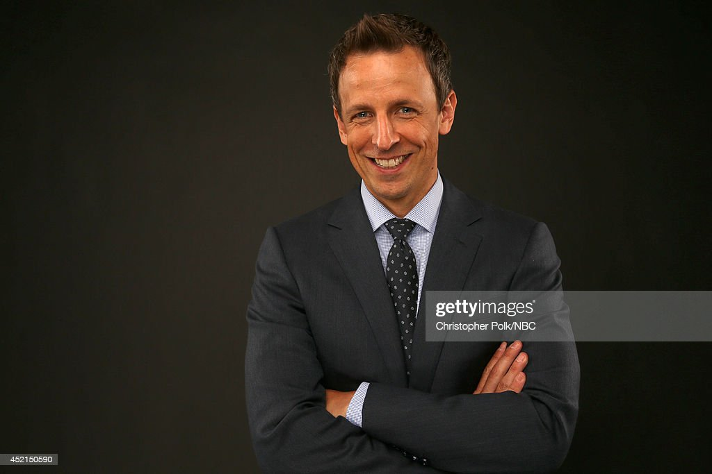NBC's 'Late Night with Seth Meyers' and 'The 66th Primetime Emmy Awards' host Seth Meyers poses for a portrait during the NBCUniversal Press Tour at the Beverly Hilton on July 13, 2014 in Beverly Hills, California.(Photo by Christopher Polk/NBCU Photo Bank via Getty Images) NUP_164677_0097.JPG