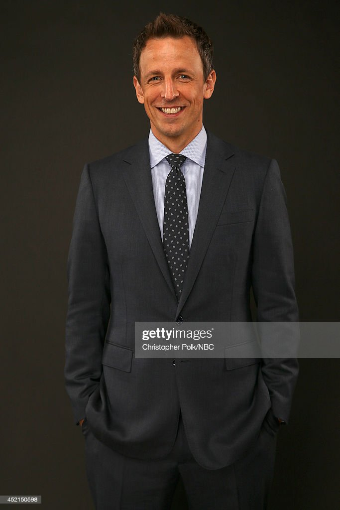 NBC's 'Late Night with Seth Meyers' and 'The 66th Primetime Emmy Awards' host Seth Meyers poses for a portrait during the NBCUniversal Press Tour at the Beverly Hilton on July 13, 2014 in Beverly Hills, California.(Photo by Christopher Polk/NBCU Photo Bank via Getty Images) NUP_164677_0096.JPG