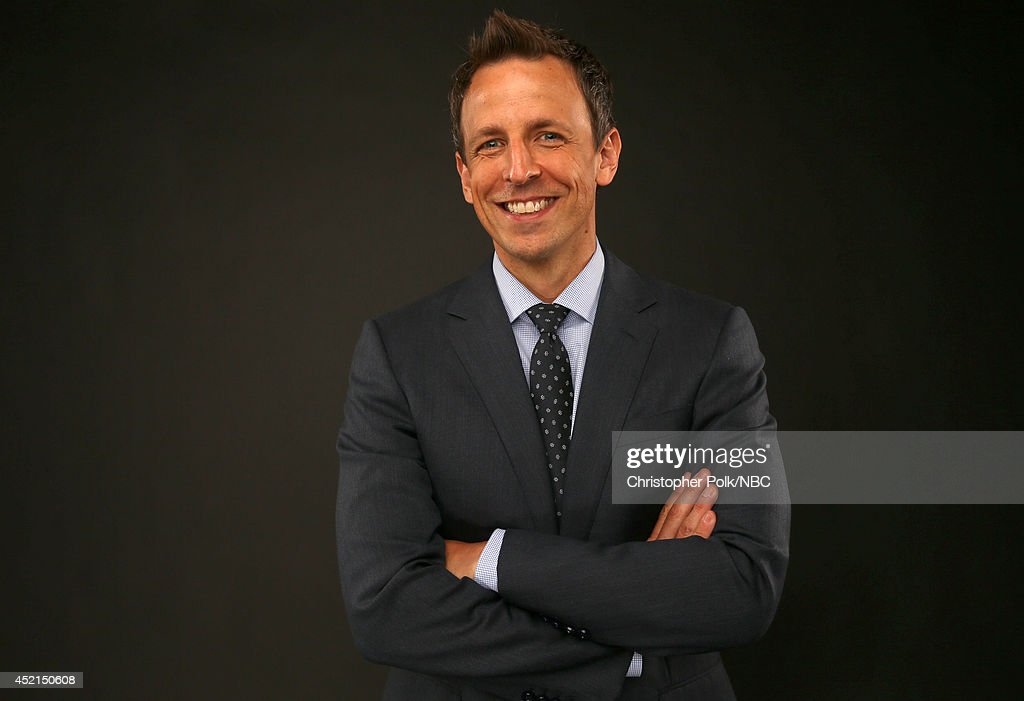 NBC's 'Late Night with Seth Meyers' and 'The 66th Primetime Emmy Awards' host Seth Meyers poses for a portrait during the NBCUniversal Press Tour at the Beverly Hilton on July 13, 2014 in Beverly Hills, California.(Photo by Christopher Polk/NBCU Photo Bank via Getty Images) NUP_164677_0098.JPG