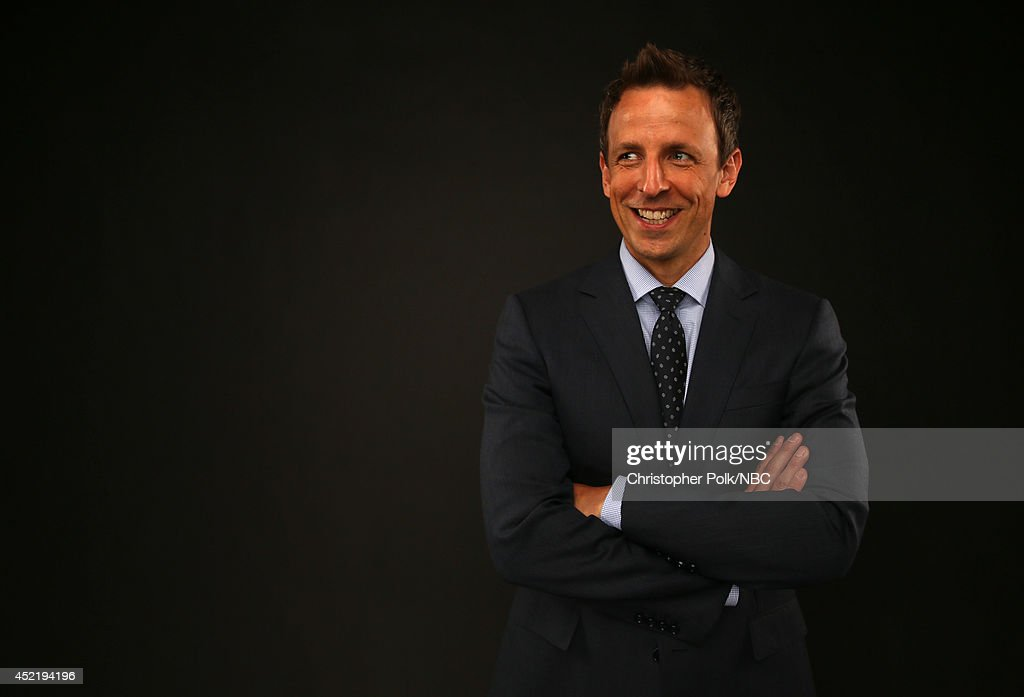 NBC's 'Late Night with Seth Meyers' and 'The 66th Primetime Emmy Awards' host Seth Meyers poses for a portrait during the NBCUniversal Press Tour at the Beverly Hilton on July 13, 2014 in Beverly Hills, California.(Photo by Christopher Polk/NBCU Photo Bank via Getty Images) NUP_164677_0100.JPG